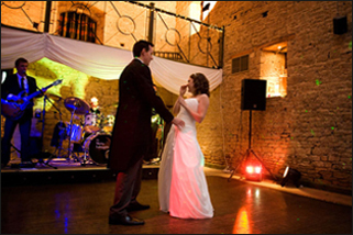 first dance great tythe barn tetbury gloucestershire